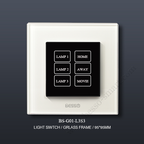 TOUCH SCREEN LIGHT SWITCH BS-G01-L3S3