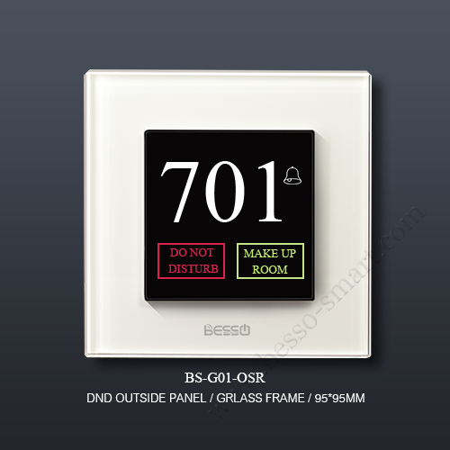 HOTEL ROOM DND DOORBELL PANEL BS-G01-OS2R